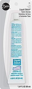 Dritz 394 Fabric Mender Liquid Stitch, 1.69-Fluid Ounce