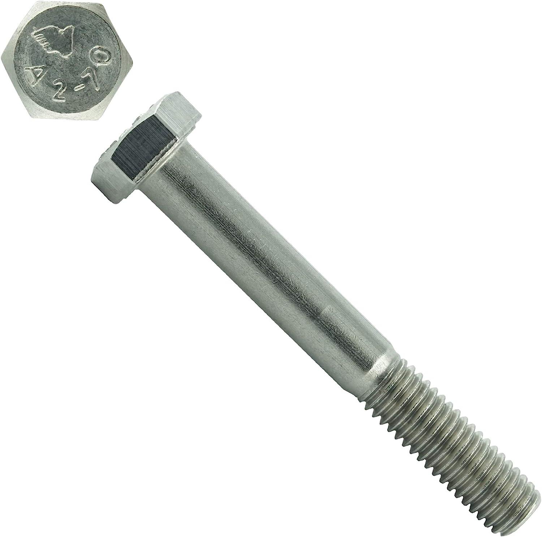 Eisenwaren2000 Gewindeschrauben M8 x 150 mm Sechskantschrauben mit Schaft Edelstahl A2 V2A rostfrei 100 St/ück Maschinenschrauben mit Teilgewinde ISO 4014 - DIN 931