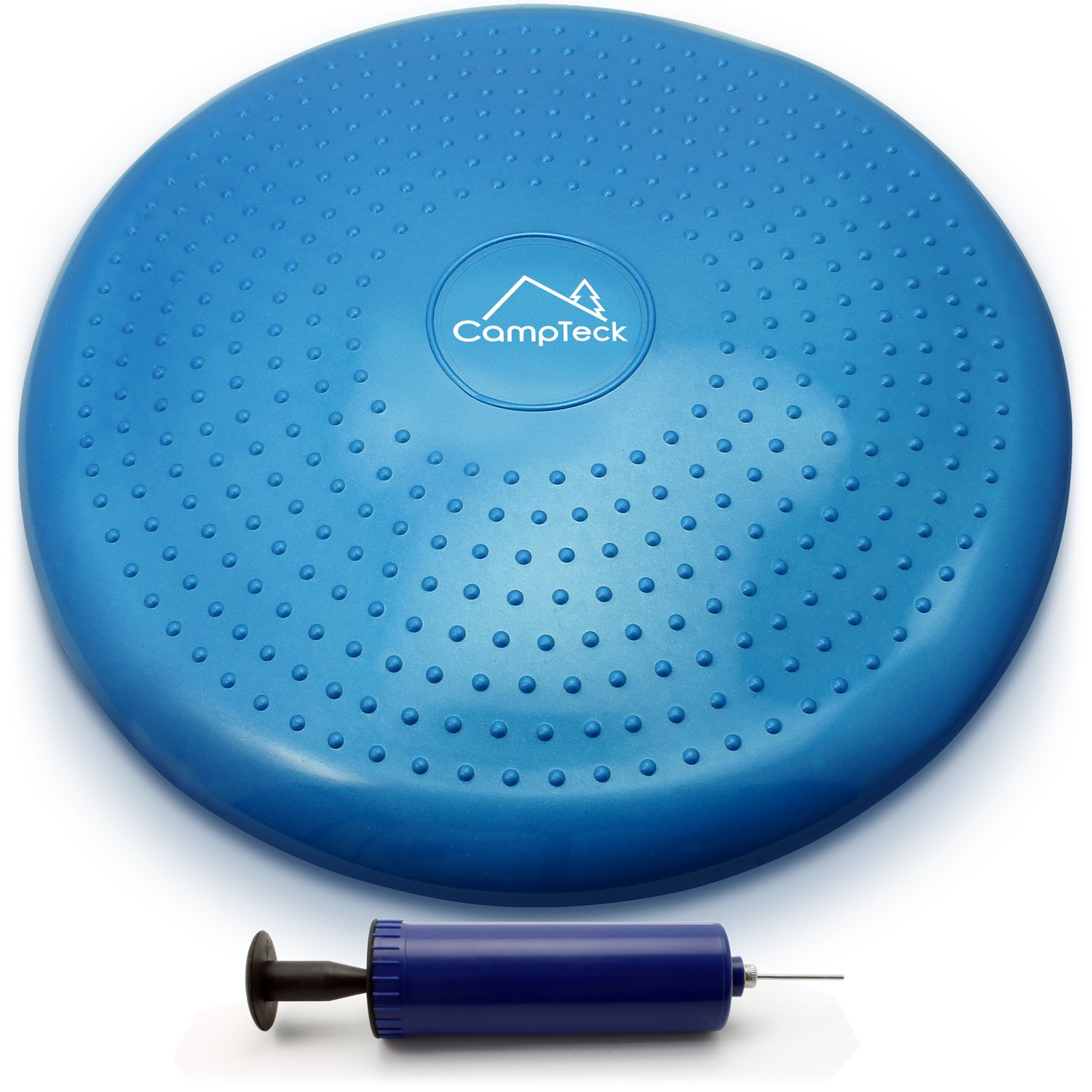 CampTeck U6765 Air Stability Wobble Cushion Inflatable Balance Cushion Board with Improved Hand Pump for Core Training, Agility, Gym Workouts, Yoga, Comfortable Sitting etc – Blue, 32cm