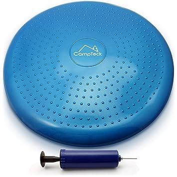 CampTeck U6765 Cojin Equilibrio Disco Vestibular Inflable con Bomba Mejorado de Mano para el Entrenamiento del Balance, Agilidad, Gimnasio, Yoga, ...