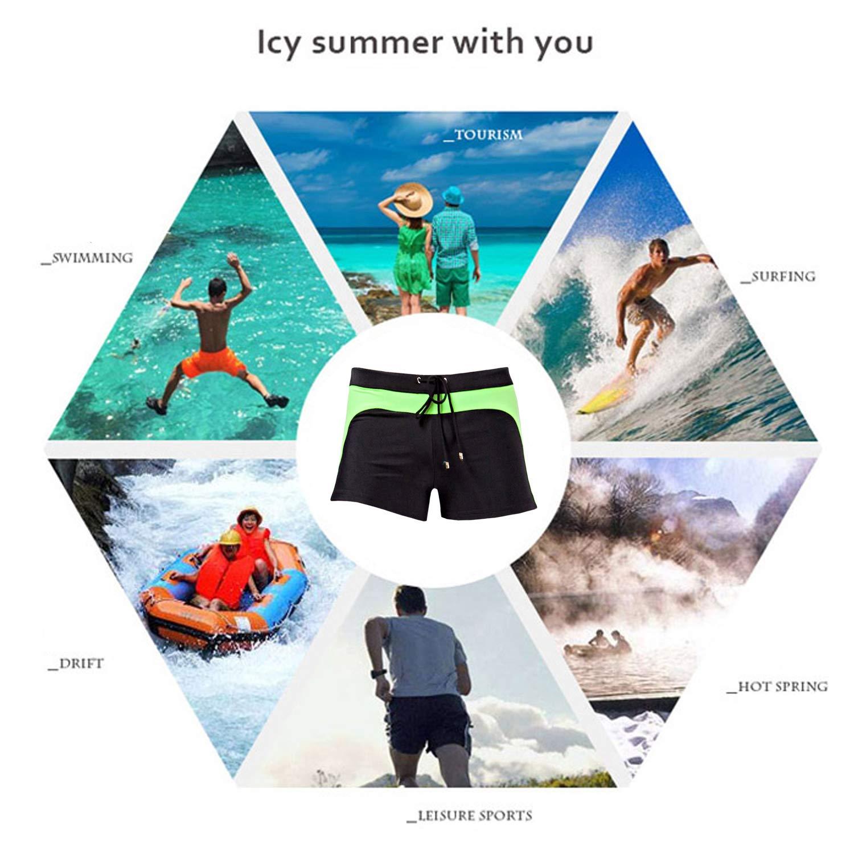 Minaso Mens Swimwear Swimsuits Swim Trunks Boxer Briefs Board Surfing Shorts