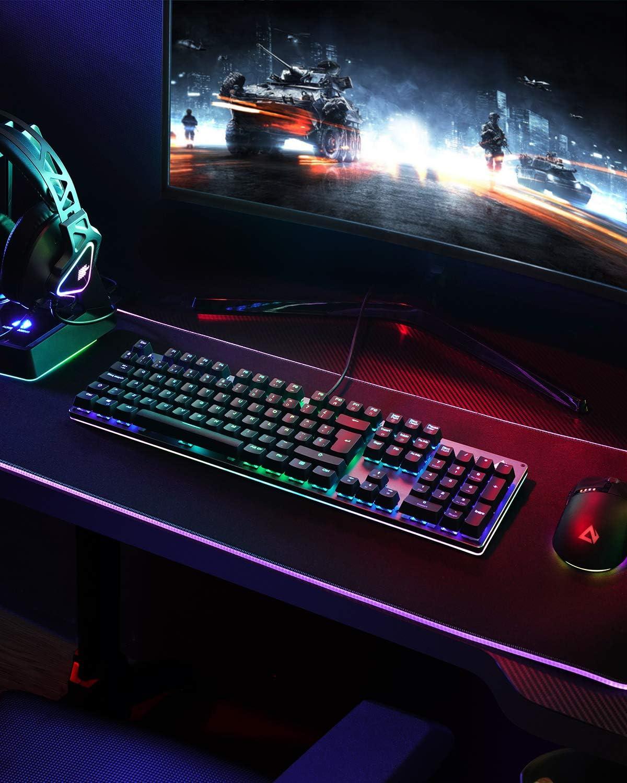 Teclado mecánico Gaming con retroiluminación RGB por 27,99€ usando el #código: TMNSR5RW