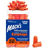 Mack's Maximum Protection Soft Foam Earplugs – 50 Pair, 33 dB Highest NRR – Comfortable Ear Plugs for Sleeping, Snoring…