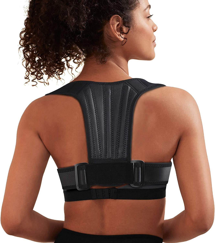 Back Brace for Women Men Support Straightener L Back and Shoulder Pain Relief Shoulder Lumbar Adjustable Breathable and Posture Corrector for Improve Posture Neck Snoky Posture Corrector