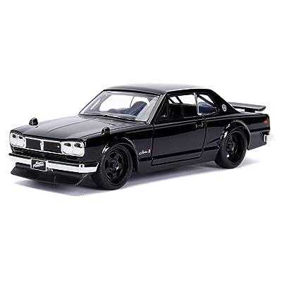 New DIECAST Toys CAR JADA 1:32 W/B - Metals - Fast & Furious - Brian's Nissan Skyline 2000 GT-R (KPGC10) (Black) 99602: Toys & Games