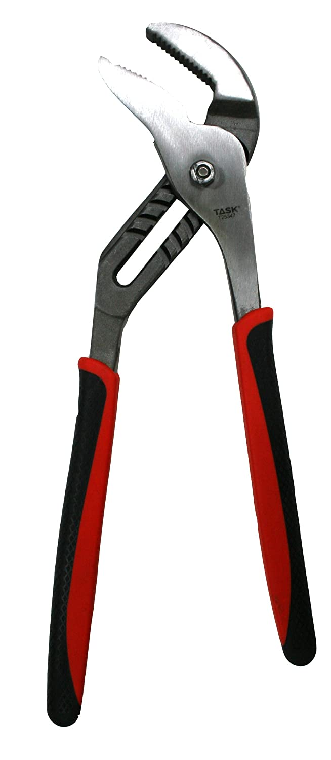 Task Tools T25343 Groove Joint Pliers Rubber Grip 10-Inch