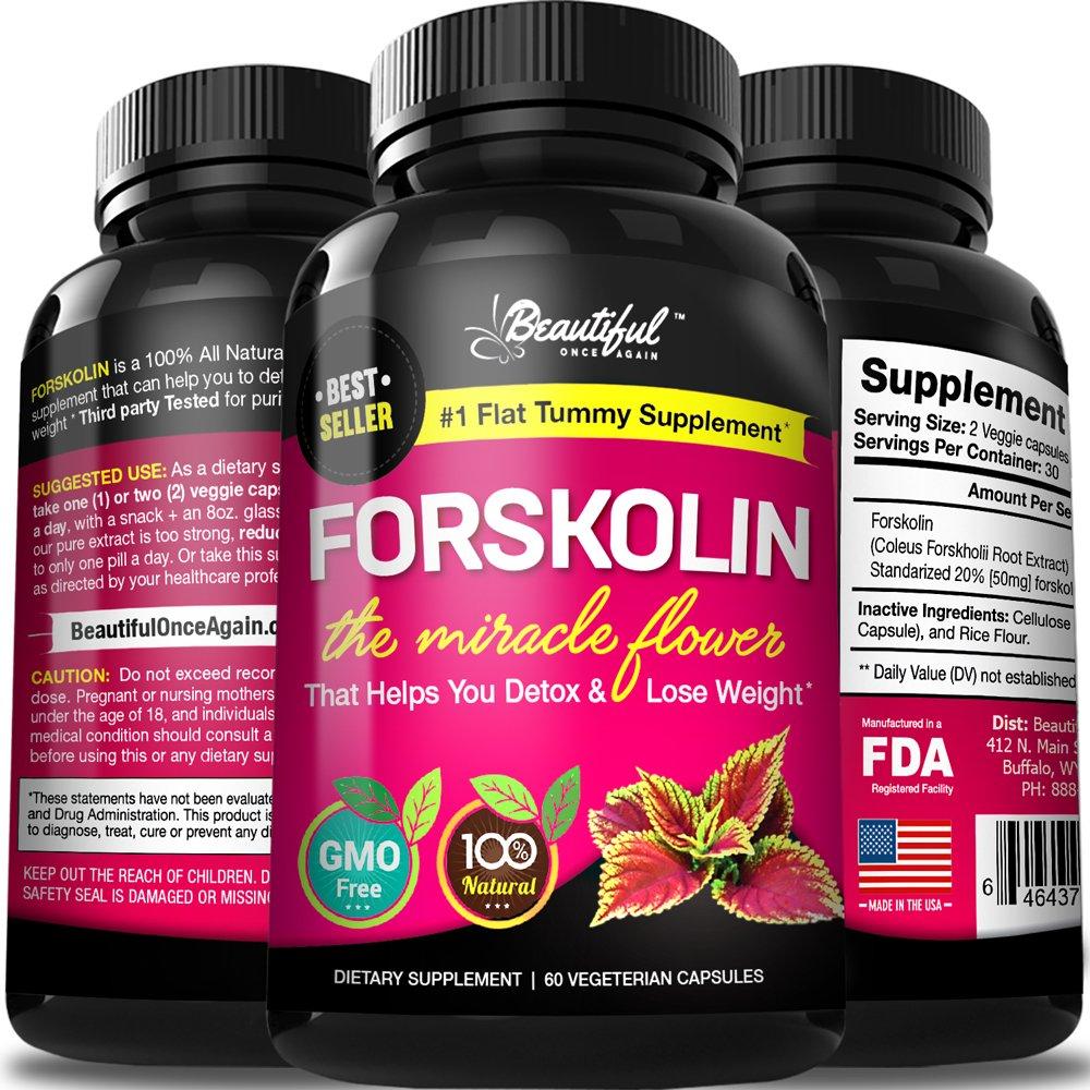 Forskolin Weight Loss Pills 100% Pure Extract (#1 Flat ...