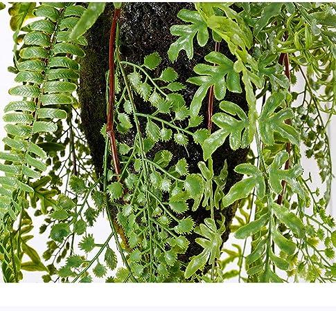 Plantas artificiales Colgantes artificiales Plantas verdes Hojas ...