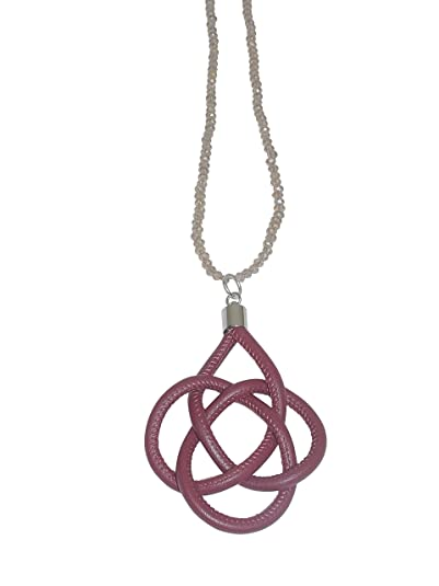 Womens wine red long pendant clasp flower of life 50 cm long glass womens wine red long pendant clasp flower of life 50 cm long glass pearl necklace taupe mozeypictures Image collections