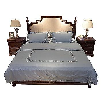 Bedding Sheets Set 4 Piece, Cotton World Li Duvet Cover Egyptian Cotton Silk  Easy Fit