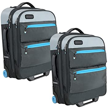 a914ff590b00 Bondka (2 Pack) Expandable Carry On Luggage Set Lightweight Roller Bag 22  inch Travel Bag with Wheels