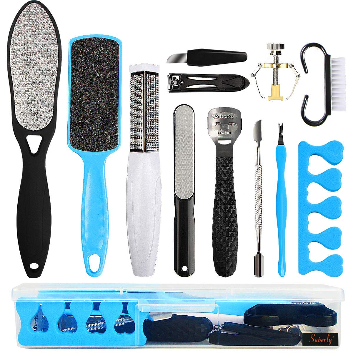 Professional Pedicure Kit Foot Files Set Tools Double Sided Files Exfoliating Prevent Dead Skin Foot Skin Care Tool Set Salon Pedicure Kit Washable Effectively 13 in 1