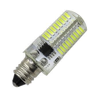 TOOGOO Atenuacion LED Bombilla de maiz Mini lampara de silicona 72 Leds SMD 4014 E11 220V