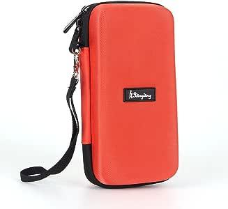 Idingding EVA Hard Case Shockproof Travel Carry Storage Bag for Graphing Calculator Texas Instruments TI-Nspire CX/CAS - Orange