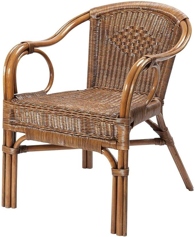 Rotin Design REBAJAS : -43% Sillon de ratan para comedor o salon Palma marron, moderno y barato: Amazon.es: Hogar