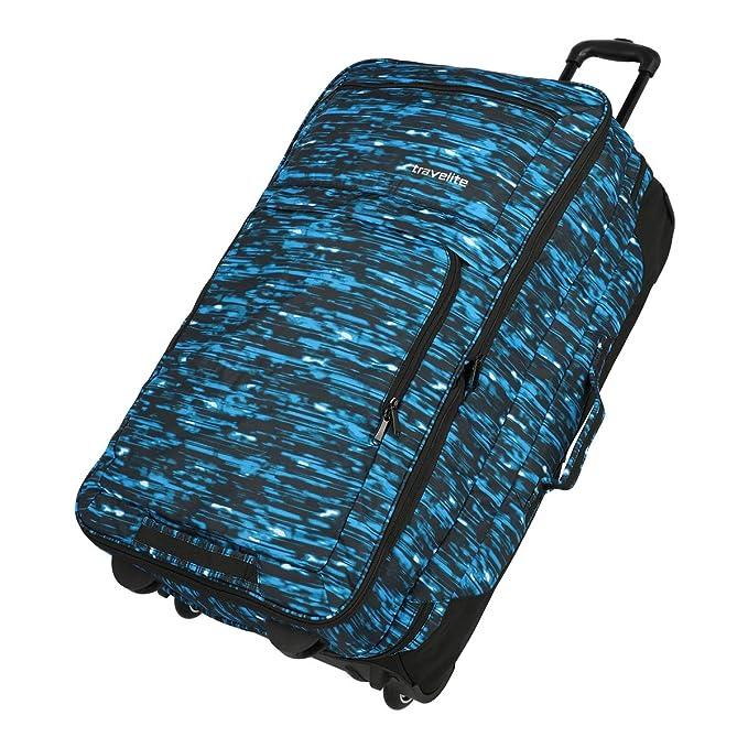 Travelite Basics Bolso de viaje con ruedas negro/azul 78 cm ...
