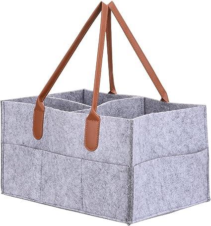 Baby Diaper Wipes Bag Caddy Nursery Storage Bin Nappy Basket Organizer UK