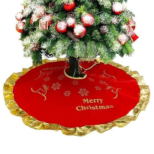 Beimaji - Falda para árbol de Navidad, diseño de Reno, muñeco de ...