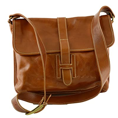 Man Leather Bag Color Honey free shipping