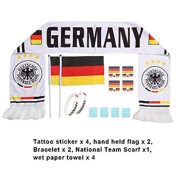 Amazon.com: Stick bandera ventiladores bufanda tatuaje ...
