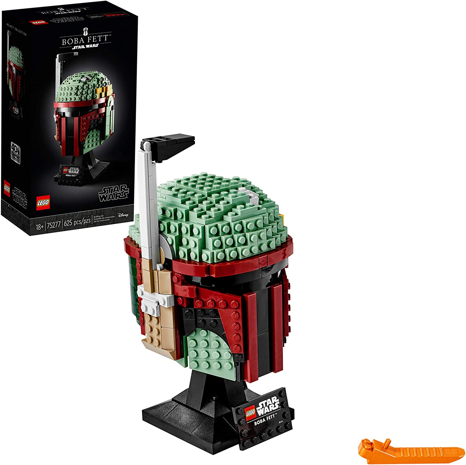 LEGO Star Wars Boba Fett Helmet 75277 Building Kit, Cool, Collectible Star Wars Character Building Set, New 2020 (625 Pieces): Toys & Games