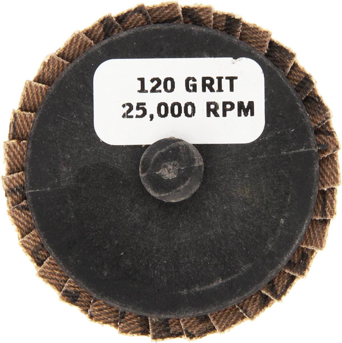 5-Pack Grit-80 Shark 73754    2-Inch Aluminum Rolock Mini Flap Disc