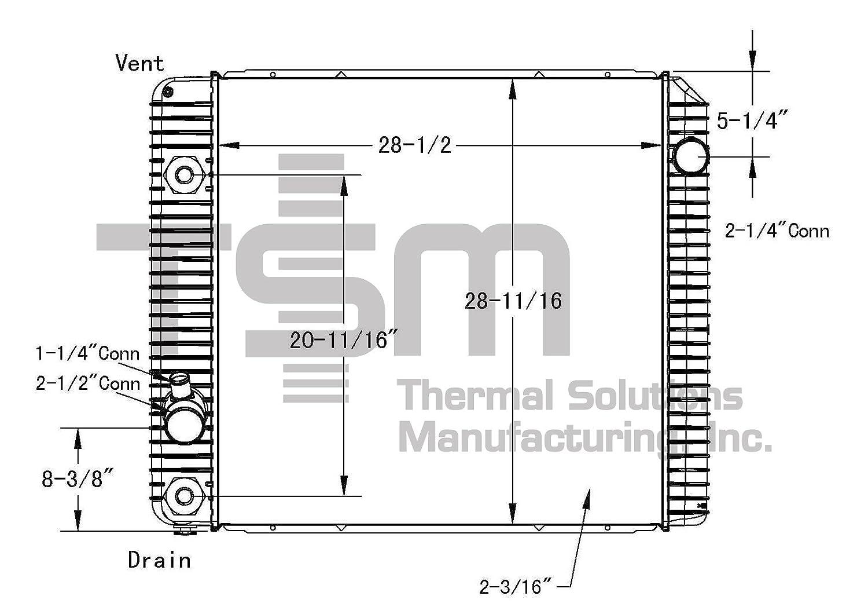 Tsmusa Plastic Tank Radiator For Ford F650 2008 2013 2012 Navistar Engine Diagram 20132015 F750 International 4100 Sba