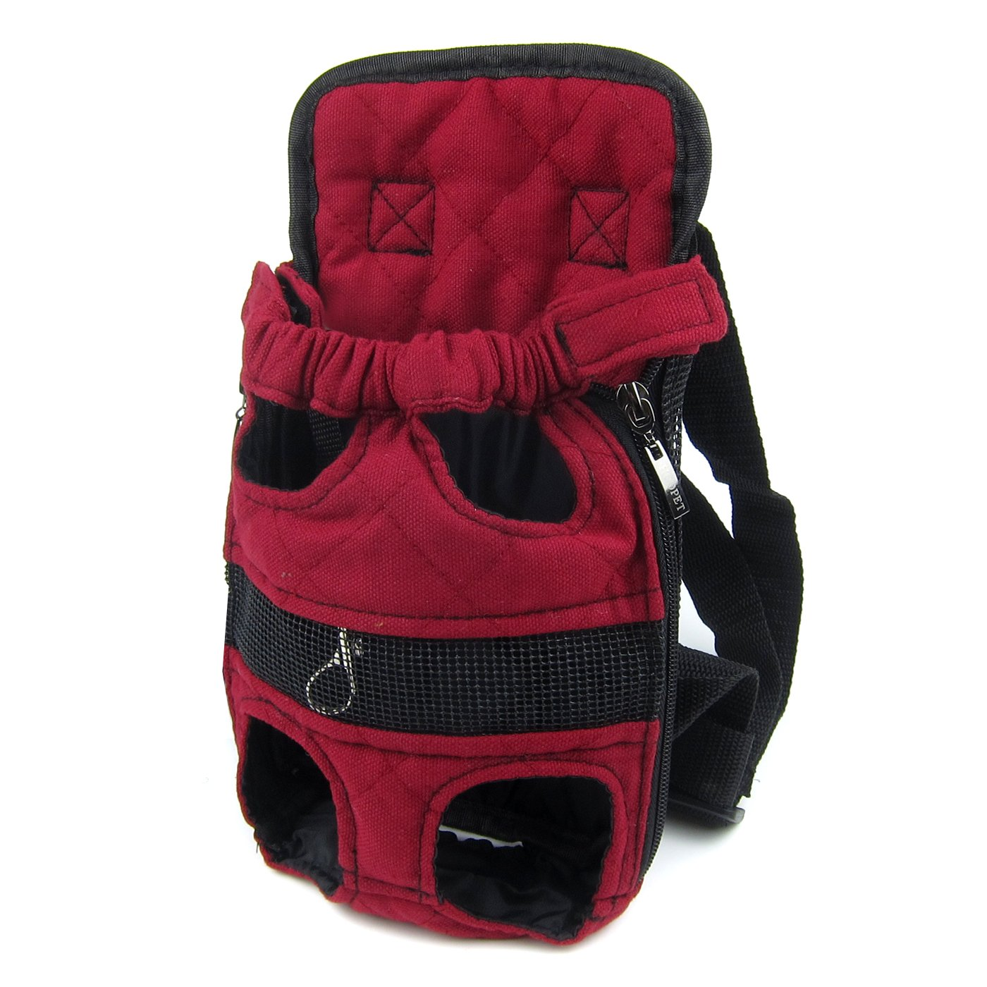 Alfie Pet by Petoga Couture - Jaden Pet Backpack or Front Carrier with Adjustable Strap - Color: Red, Size: Small