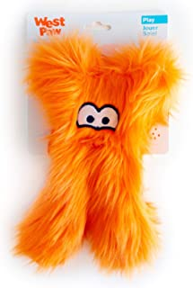 product image for West Paw Darby, Rowdies with HardyTex and Zogoflex, Plush Dog Toy, Orange Fur