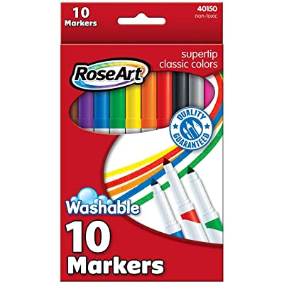 RoseArt Classic SuperTip Markers, 10-Count, Packaging May Vary (DDR90): Office Products