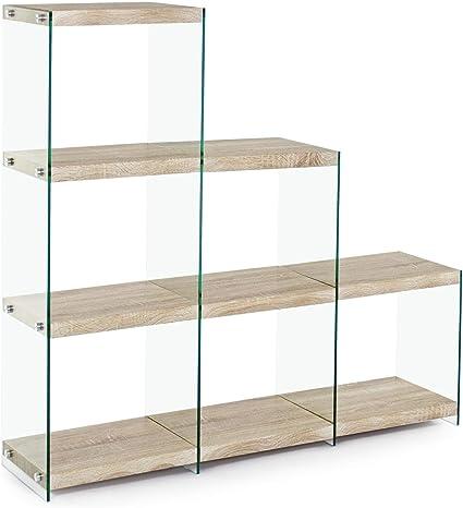 ARREDinITALY Estantería Scala laterales de cristal templado ...