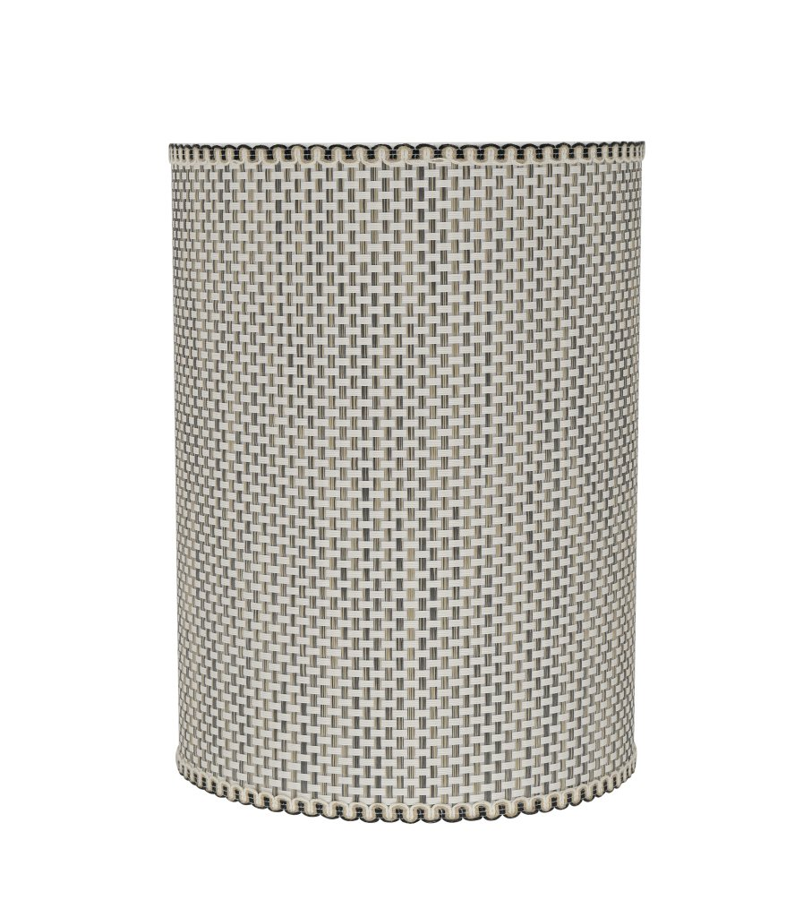 Aspen Creative 31122 Transitional Drum (Cylinder) Shaped Spider Construction Lamp Shade in Multicolor Weave, 8'' Wide (8'' x 8'' x 11'')