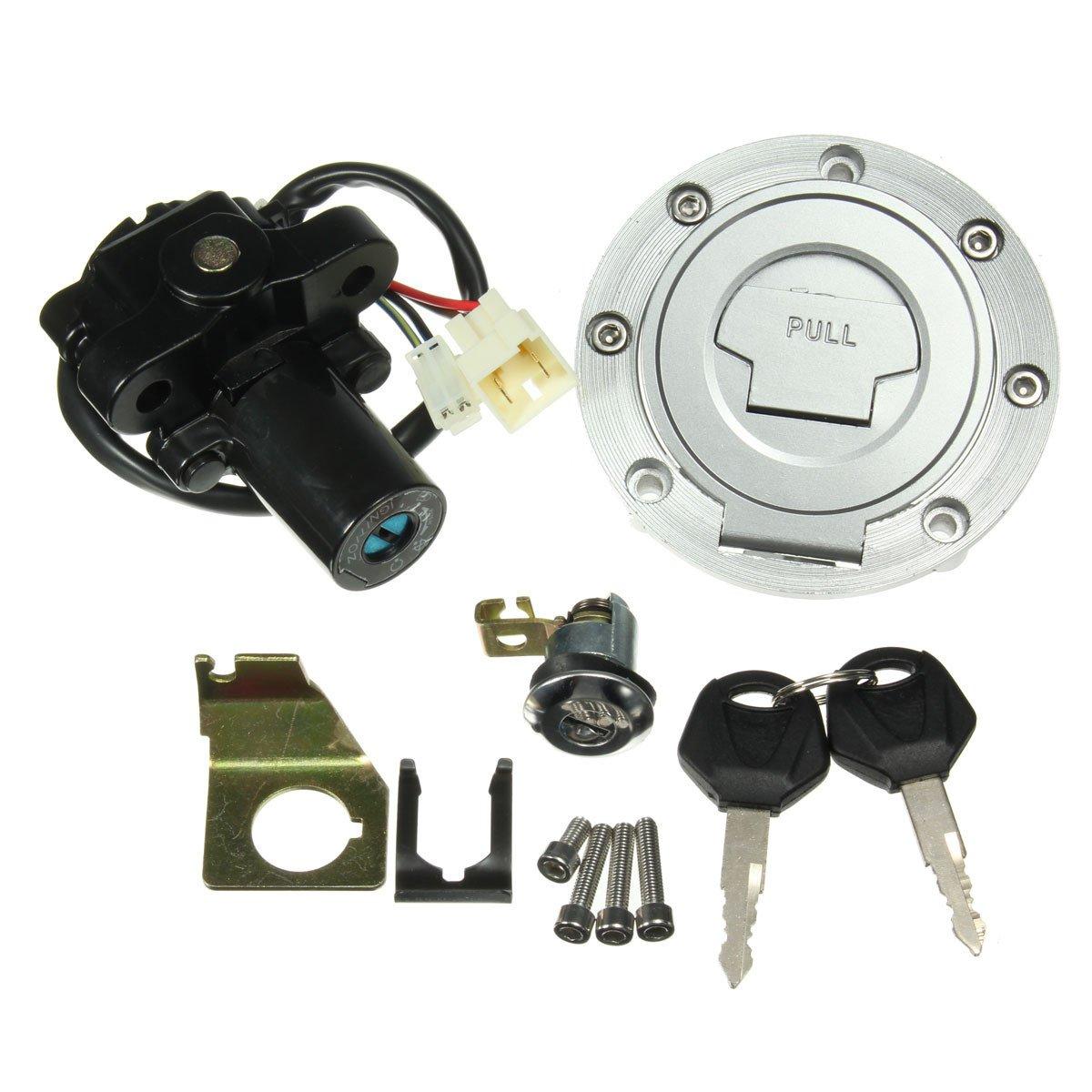 Alamor Ignition Switch Seat Lock Fuel Gas Cap Key Set For Yamaha Yzf R1 R6 2001-2012