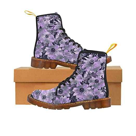 LEINTEREST wonderful sparkling Floral Martin Boots Fashion Shoes For Women