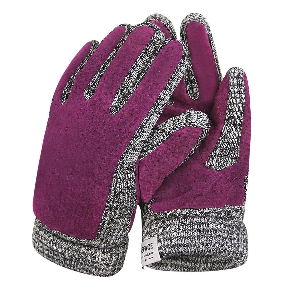 AfinderDE Handschuhe Winterhandschuhe Fausthandschuhe Damen Herren Jungen Strickhandschuhe Fäustlinge Handschuhe Fingerhandschuhe Strick Handschuhe