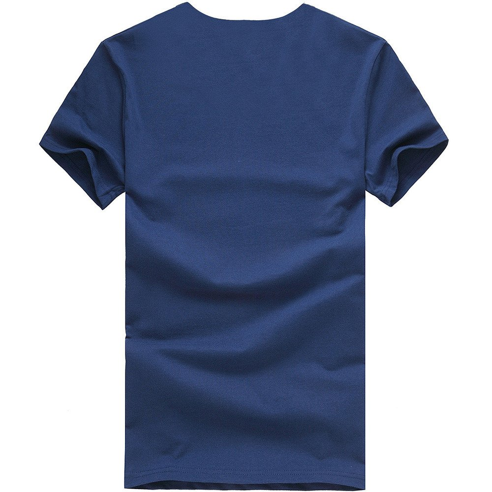 Donci Crew Collar Skull Pattern Solid Color Basic Tops Mens Everyday Polyester Short Sleeve Tees Fashion Print T Shirt