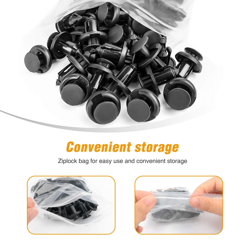 GOOACC GRC-30 120PCS Car Retainer 6.3mm 8mm 9mm 10mm Expansion Screws Replacement Kit Bumper Push Rivet Clips 1PC Fastener Remover