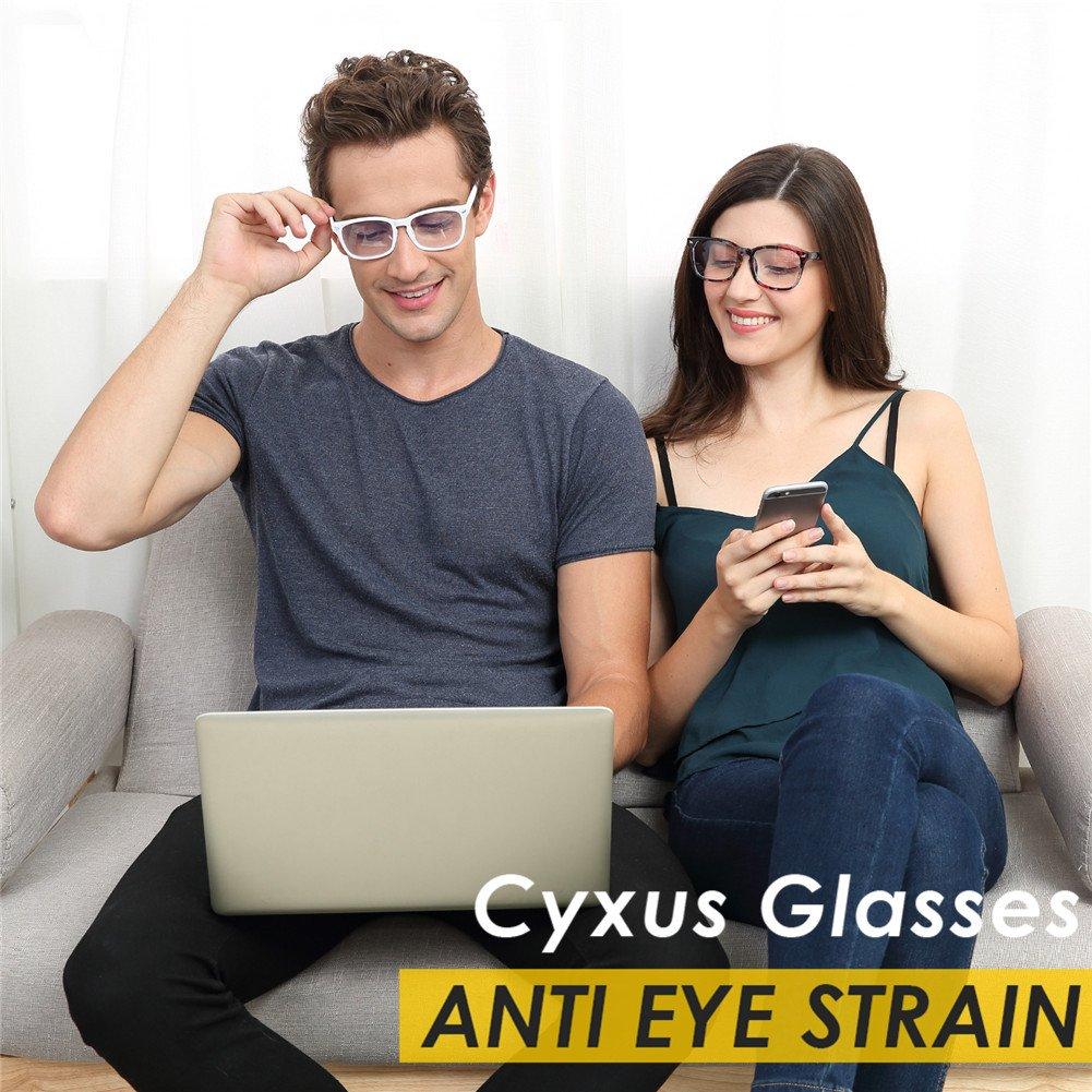 Lunettes Anti-Lumi/ère Bleue de Bureau pour Homme Anti fatigue Oculaire Filtre UV Femme Lunettes dOrdinateur Cyxus Lunette Anti-Lumi/ère Bleue