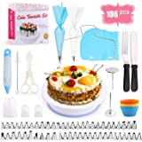 Cake Decorating Equipment, SPLAKS 106pcs Cake Decorating Set Cupcake Decorating Kit Baking Supplies with Nonslip…