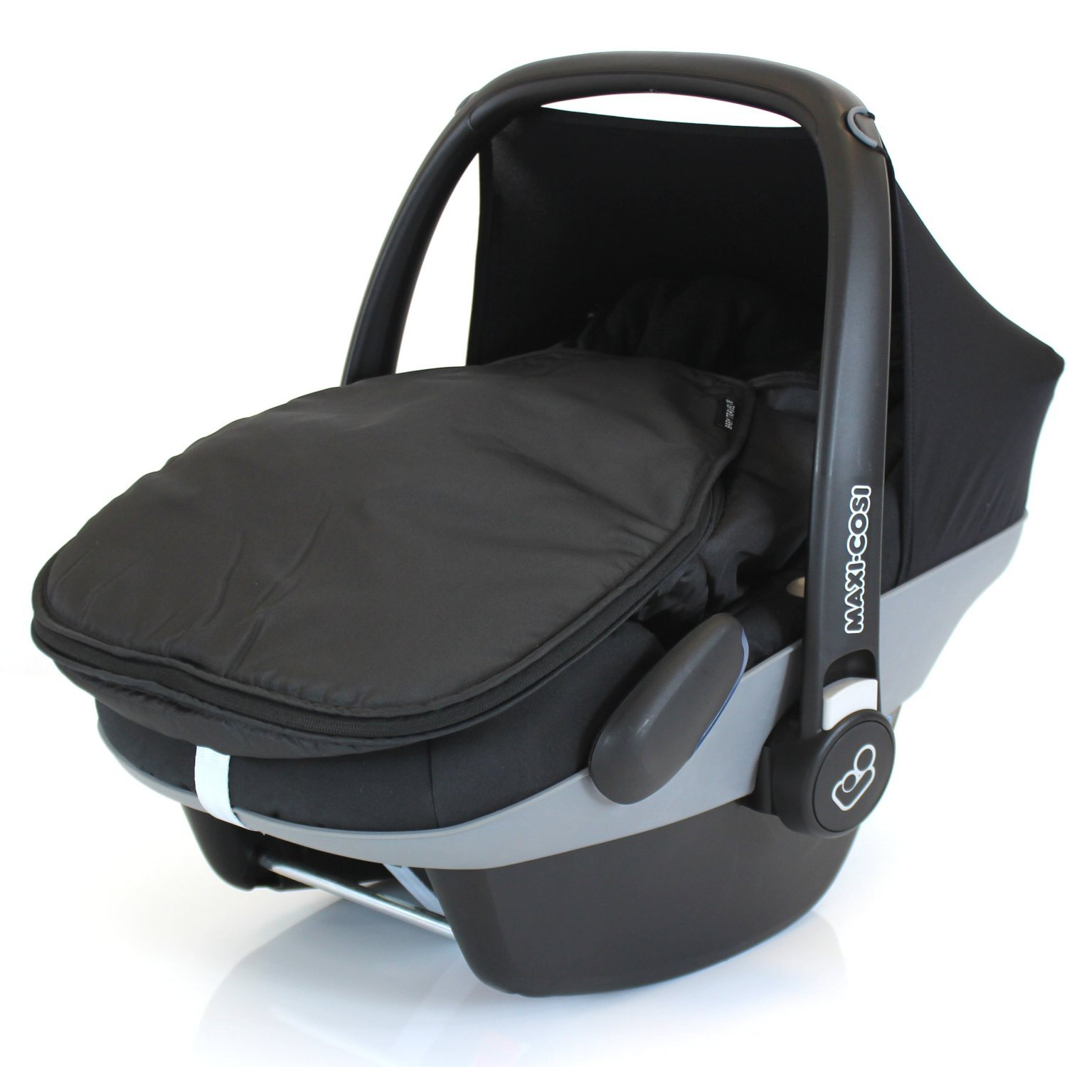 Carseat Footmuff To Fit Maxi Cosi Cabrio - Black Baby Travel