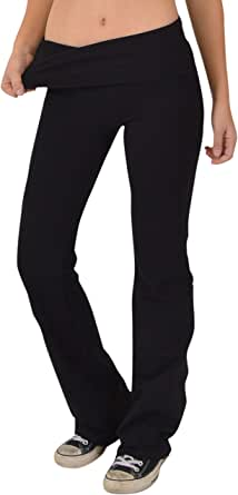 Stretch Is Comfort Women's Foldover Color Yoga Pants