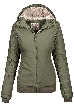 ef507af597c7 Warme Damen Winter Übergangsjacke Jacke Parka Winterjacke kurz Teddyfell   Amazon.de  Bekleidung