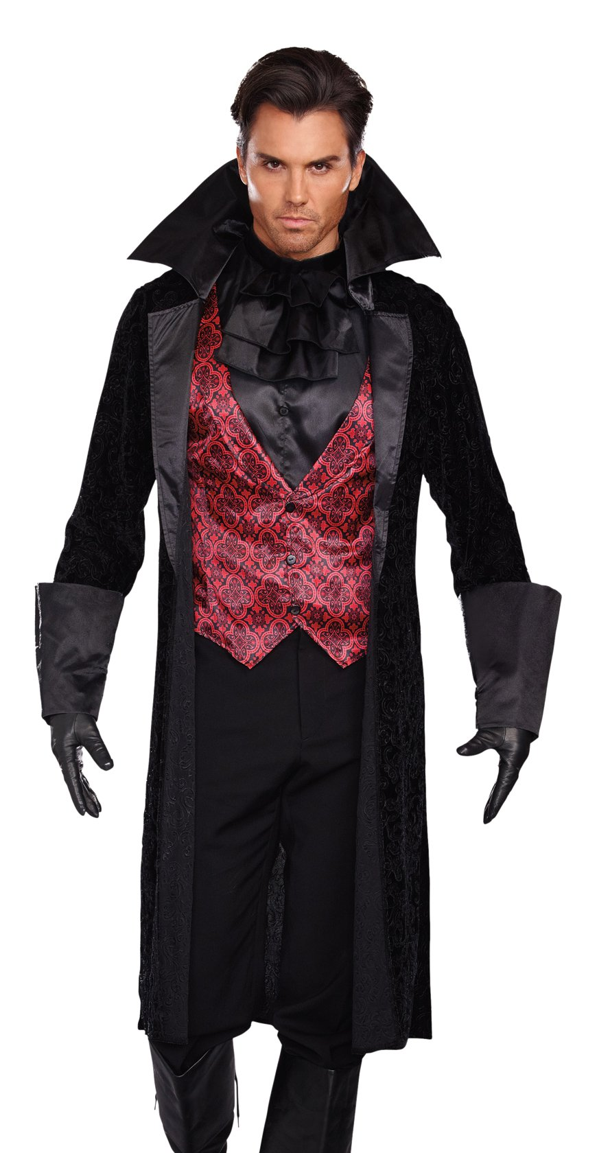 Dreamgirl Men's Bloody Handsome Costume, Black/Red, X-Large
