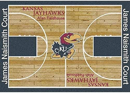 Milliken Kansas College Home Court Area Rug, 10 9 x 13 2 , 01120 Court