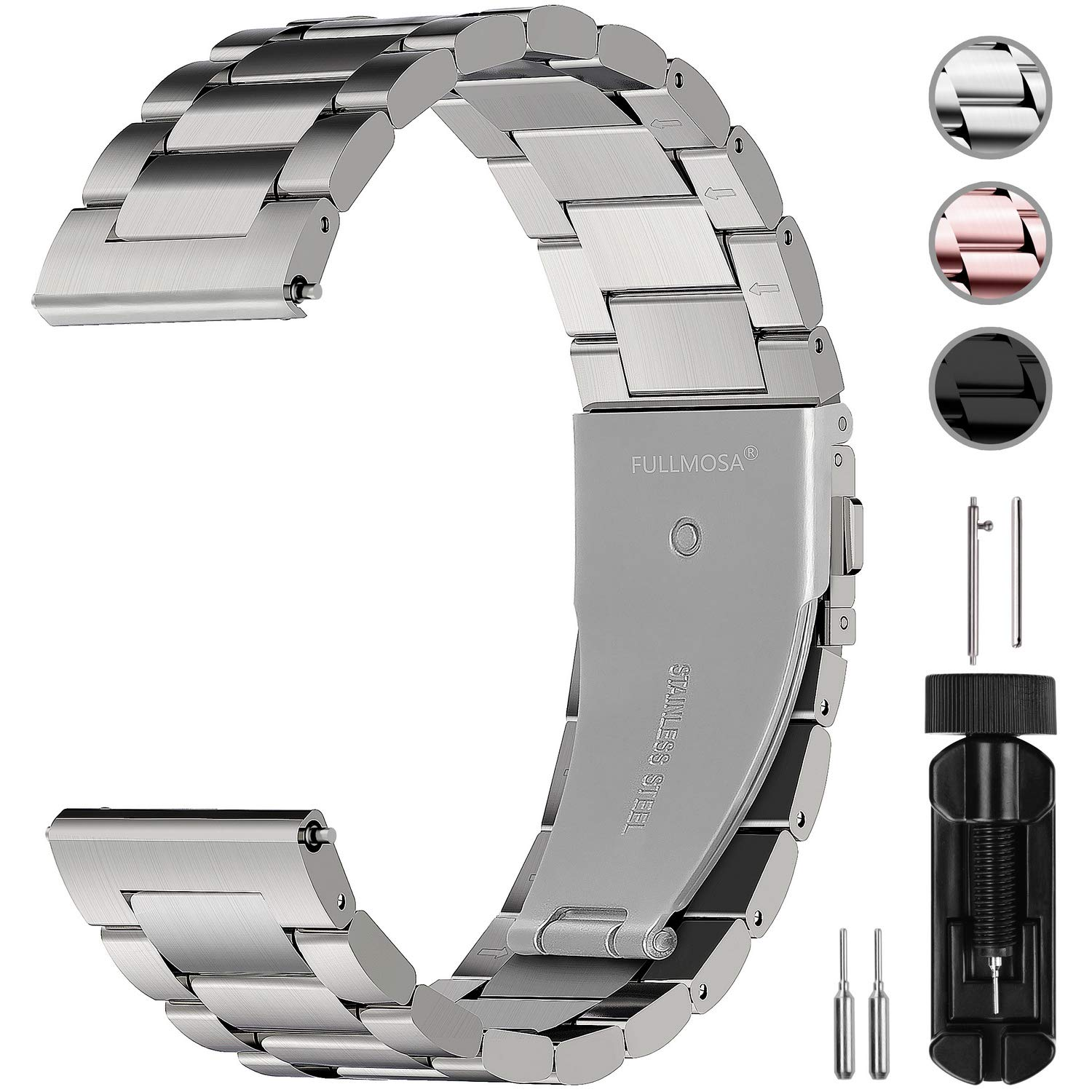 Watchbands Realistic Premium Stainless Steel Watchband For Samsung Gear S3 Classic Frontier Smart Watch Band Wrist Strap Link Bracelet Silver Black With The Best Service