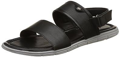 Hush Puppies Men's Descartes Leather Sandals Men's Fashion Sandals at amazon
