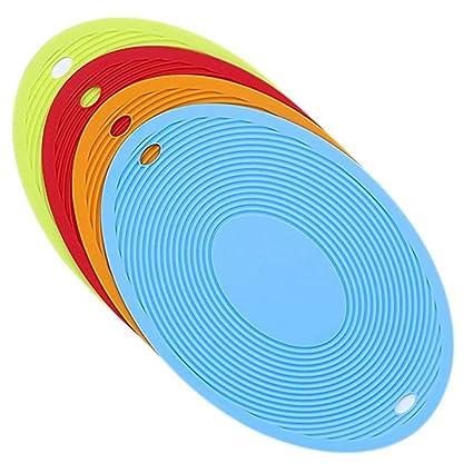 Xiaoqin 5pcs Extra Thick Silicone Trivet Mat, Estera ...