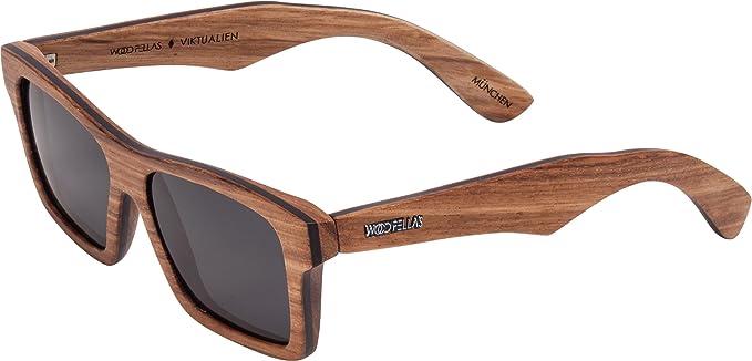 Wood Fellas Unisex Holz-Sonnenbrille Viktualien Braun One mit polarisierenden Gläsern in verschiedenen Farben 5R5fe