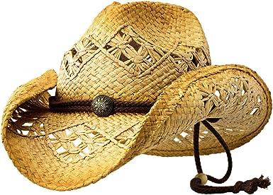 Sonoma - Deadwood Trading Raffia Straw Cowboy Hat   Men & Women Country    Beach at Amazon Women's Clothing store