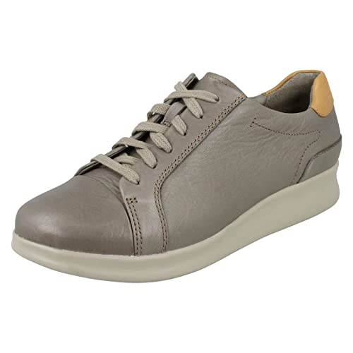 401646601cc Clarks Ladies Unstructured Casual Shoes Un Flare - Sage Leather - UK Size  4D - EU